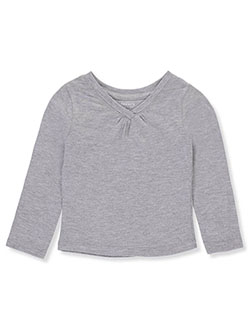 Jersey Long-Sleeve V-Neck Top by French Toast in Heather gray, Infants