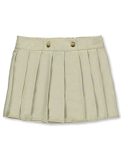 Big Girls' Plus Size Scooter Skirt by French Toast in khaki and navy