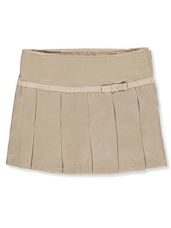 Toddler Bow Pleated Scooter Skirt by French Toast in Khaki