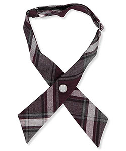Girls' Plaid Woven Neckband by French Toast in Plaid #91