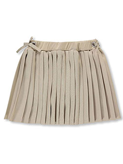 Girls' Pleated Scooter Skirt by French Toast in khaki and navy