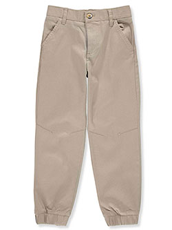 Boys' Stretch Twill Joggers by French Toast in khaki and navy