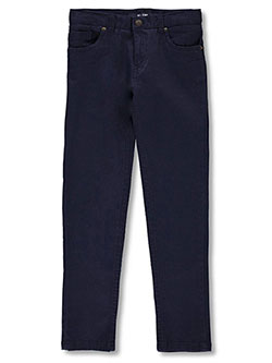 Boys' Stretch Twill Slim Pants by French Toast in Navy