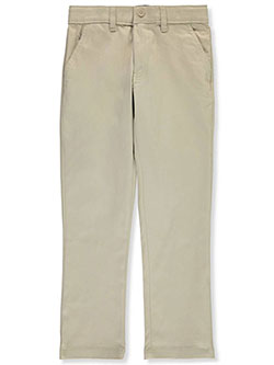 Boys' Straight Fit Twill Pants by French Toast in khaki and navy, School Uniforms
