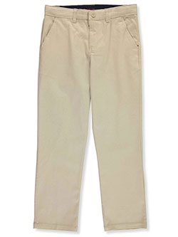 Boys' Husky Straight Fit Twill Pants by French Toast in khaki and navy