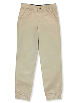 Boys' Stretch Twill Joggers by French Toast in khaki and navy, School Uniforms