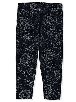 Girls' Patriotic Butterfly Leggings by French Toast in Silver