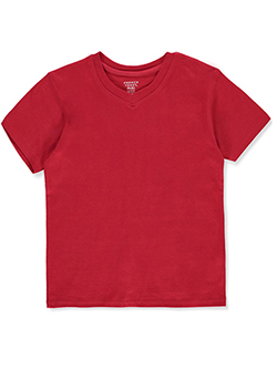 Boys' Basic V-Neck T-Shirt by French Toast in Red