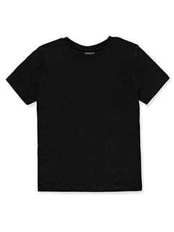 Boys' Basic Crew Neck T-Shirt by French Toast in Black