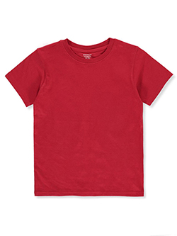 Boys' Basic Crew Neck T-Shirt by French Toast in Red