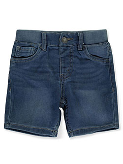Levi's Baby Boys' Knit Shorts by Levis in denim blue, light blue and medium blue