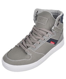 "Levi's Boys' ""Brentwood"" Hi-Top Sneakers (Youth Sizes 3.5 – 6) - CookiesKids.com"