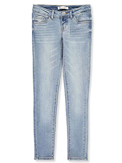 Girls' 710 Super Skinny Jeans by Levi's in black, blue, dark blue, light denim and medium blue