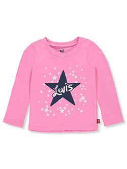 Baby Girls' L/S T-Shirt by Levi's in Pink, Infants