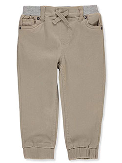 Baby Boys' Elastic Waistband Twill Joggers by Levi's in khaki and navy, Infants