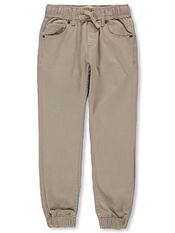 Boys' Twill Joggers by Levi's in khaki and wheat, Sizes 2T-4T