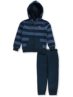 Boys' 2-Piece Sweatsuit Pants Set by Levi's in Blue/multi