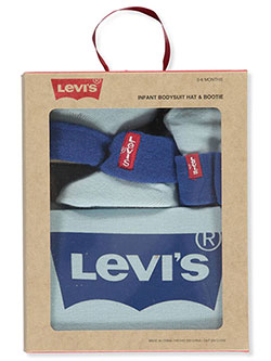 Baby Boys' 3-Piece Layette Gift Set by Levi's in Blue, Infants