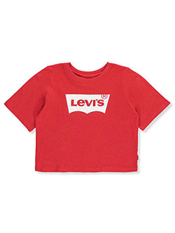 Baby Girls' Cropped T-Shirt by Levi's in red and white, Sizes 7-16