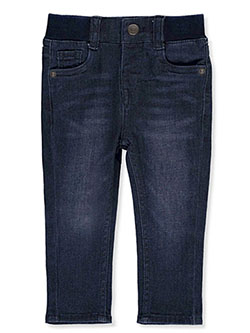 Levis' Baby Boys' Skinny Jeans by Levi's in dark denim and light blue, Infants