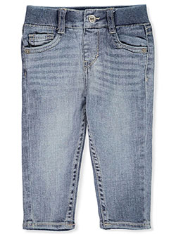 Baby Girls' Extreme Soft Skinny Jeans by Levi's in dark blue and medium denim