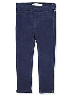 Girls' Pull-On Jeggings by Levi's in black, dark blue, denim blue, light denim and medium blue