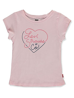 Baby Girls' Graphic T-shirt by Levi's in acapulco, gray and white - $16.00