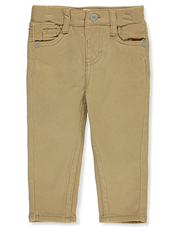 Baby Boys' Skinny Twill Pants by Levi's in khaki and navy