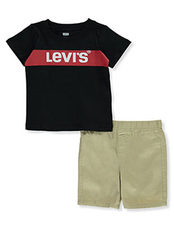 Levi's 2-Piece Camo Twill Shorts Set Outfit by Levis in Black - Short Sets