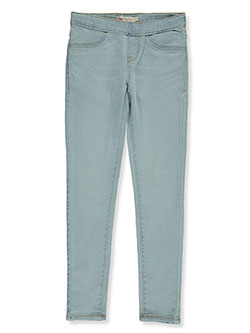 Girls' Pull-On Skinny Jeggings by Levi's in black, light denim and medium blue