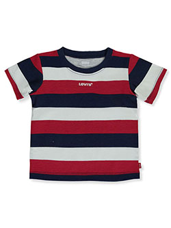Levis' Baby Boys' Stripe T-Shirt by Levi's in navy and olive