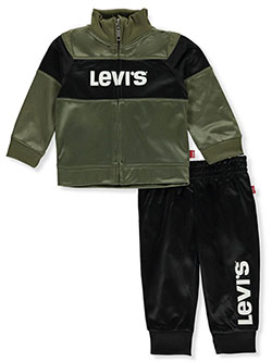 Color Block 2-Piece Track Suit Pants Set Outfit by Levi's in Green