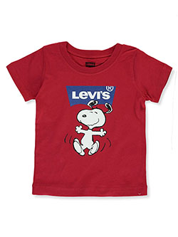 Baby Boys' Peanuts' Happy Snoopy T-Shirt by Levi's in Red