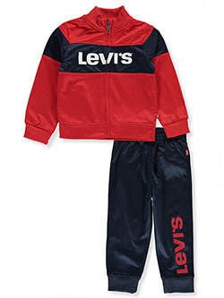 Color Block 2-Piece Track Suit Pants Set Outfit by Levi's in Red