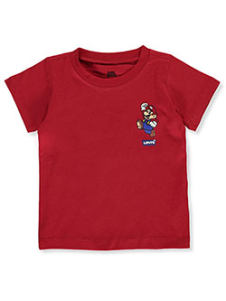 Baby Boys' Smiling Super Mario T-Shirt by Levi's in Red