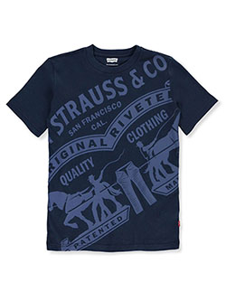Oversize Heritage Logo Graphic T-Shirt by Levi's in blue, red and white