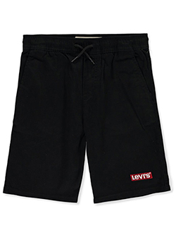 Boys Elastic Waist Denim Shorts by Levi's in Black