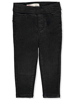 Baby Girls' Pull-On Jeggings by Levi's in black and dark blue - Jeans