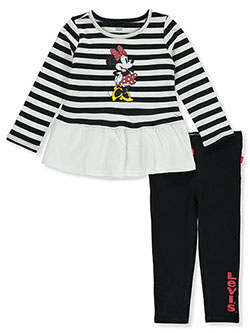 Minnie Mouse Stripes 2-Piece Leggings Set Outfit by Levi's in Black