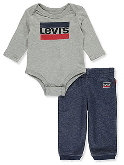 Baby Boys' 2-Piece Joggers Set Outfit by Levi's in Gray