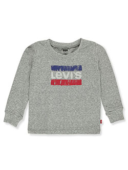 Baby Boys' Graphic L/S T-Shirt by Levi's in gray and red