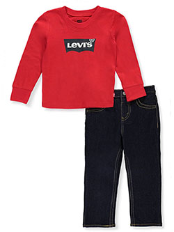 Baby Boys' 2-Piece Jeans Set Outfit by Levi's in red and white/multi - Active Sets
