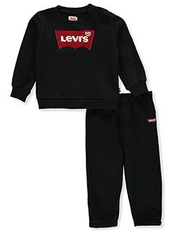 Logo Taped 2-Piece Sweatsuit Outfit by Levi's in Black