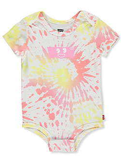 Baby Girls' Tie-Dye Face Logo Coverall by Levi's in Multi