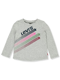 Baby Girls' Star Trail L/S T-Shirt by Levi's in Gray