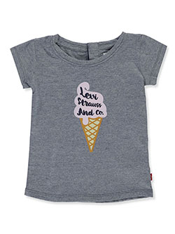 Baby Girls' Ice Cream Graphic T-Shirt by Levi's in Gray