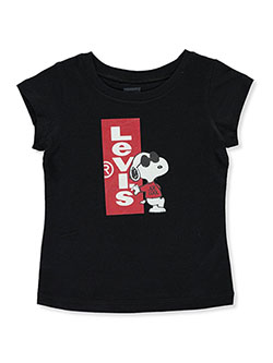Baby Girls' Snoopy Joe Cool Graphic T-Shirt by Levi's in Black