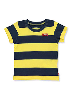 Baby Boys' Broad Stripe Graphic T-Shirt by Levi's in navy and red