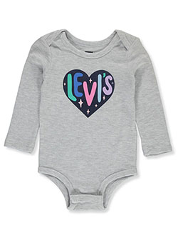 Baby Girls' Thermal L/S Bodysuit by Levi's in Gray