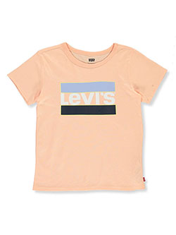 Girls' Logo T-Shirt by Levi's in Light peach